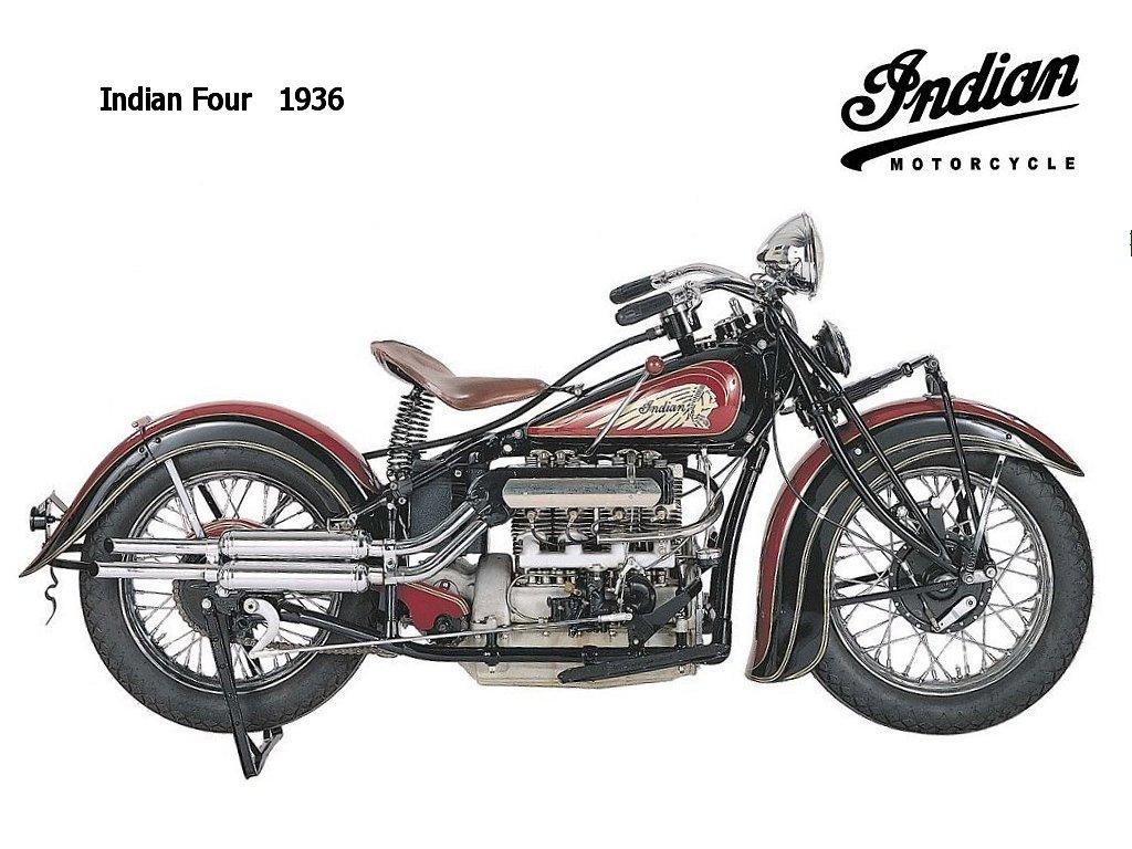 Motocicletas importantes e famosas do século XX / Indian-Four-1936